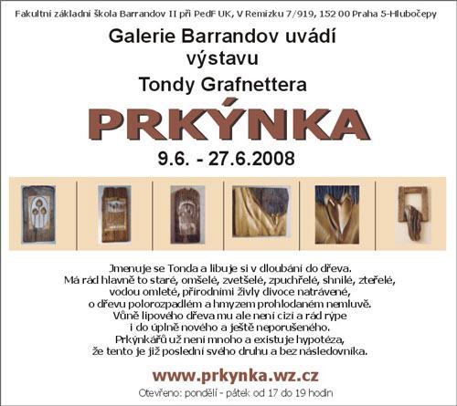 Tonda Grafnetter: Prkýnka – výstava dřevěných artefaktů