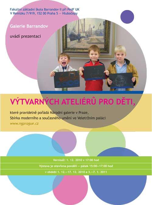 Práce žáků zVeletržního paláce: Výtvarné ateliéry pro děti