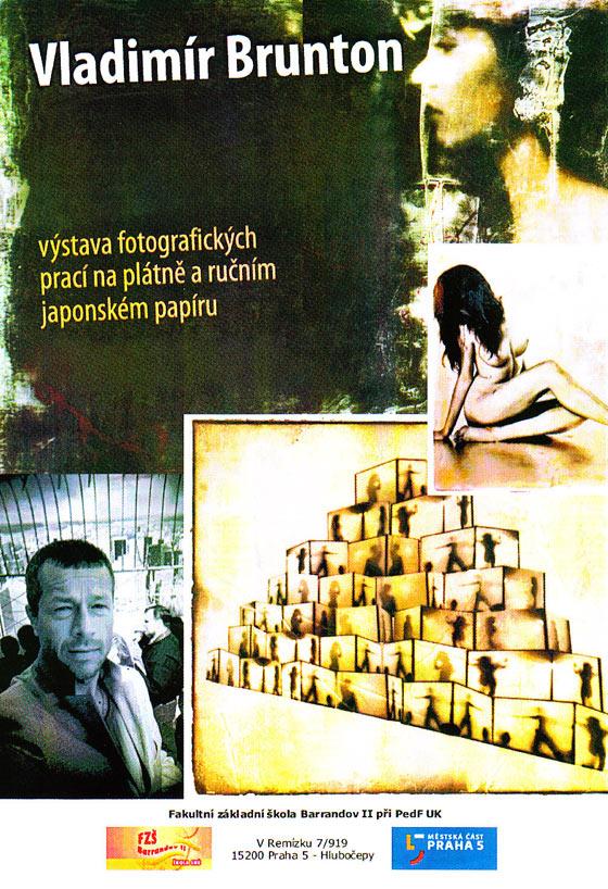 Vladimír Brunton: Česká žena na japonském ručním papíře a Japonská žena na českém ručním papíře