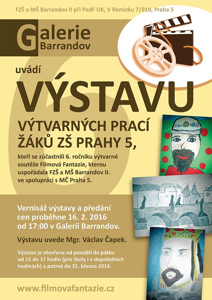 Filmová Fantazie – 6. ročník: Výtvarné práce žáků ZŠ Prahy 5