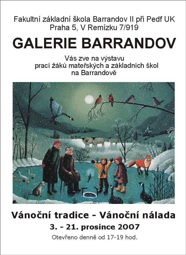 Výstava MŠ aZŠ naBarrandově: Lidové Vánoční tradice – vánoční nálada