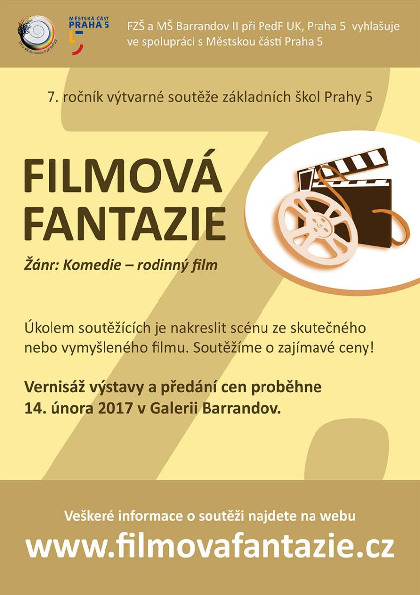Filmová Fantazie – 7. ročník: Výtvarné práce žáků ZŠ Prahy 5
